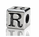 4.5mm Small Hole Alphabet Letter Bead Letter R