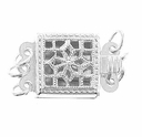 Filigree Box 3 Strand Clasp (1pc)