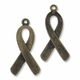 Antiqued Brass Ribbon 32mm Charm (1PC)
