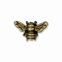 Brass Oxide Honeybee Bead