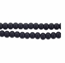 6mm Black Onyx Barrel Beads 16 inch Strand