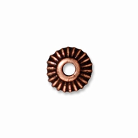 5mm Antiqued Copper Crown  Heishi  Spacers (10PK)