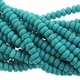 6mm Blue Rondelle Turquoise Beads 16 inch Strand
