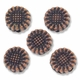 Antiqued Copper Small Sunflower Beads (5PK)