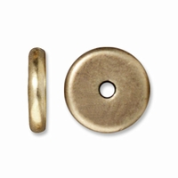 8mm Brass Oxide Disk Heishi Spacers (10PK)
