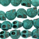 12mm Blue Turquoise Skull Beads 16 inch Strand