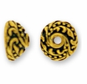 Antique Gold 7mm Ivy Bead Cap