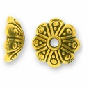Antique Gold 8mm Oasis Bead Cap