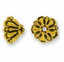 Antique Gold 8mm Tiffany Bead Cap