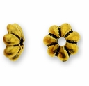 Antique Gold 5mm Petal Beadcap