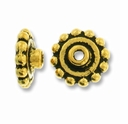 Antique Gold 7mm Aligner Bead Cap