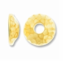 Gold Plated 10mm Hammertone Bead Cap