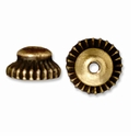 Antiqued Gold 7mm Crown Bead Cap