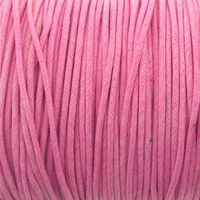 Pink 1.5mm Waxed Cotton Craft Cord (1YD)