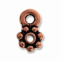 Antique Copper Beaded 4mm Heishi Bead w/loop (10 PK)