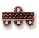 Antique Copper Braided 3-1 Link