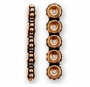 Antique Copper Beaded 5-Hole Link