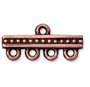 Antique Copper 1-4 Beaded Link