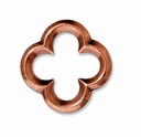 Antiqued Copper Large Quatrefoil Link