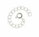 Silver Plated 2 Inch Extension Chain w/Spring ring (5PK)