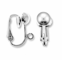 Steel Earclip Ball with Loop (1 Pair)
