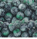 Green Marble Glass Beads