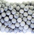 White Turquoise Resin Beads