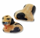 Porcelain Cute Dog 18x20mm Bead (2PK)