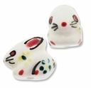Porcelain Cute Rabbit 23x20mm Bead (2PK)
