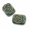 Rose 35x30mm Porcelain Beads (2PCS)