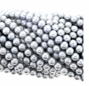 Silver Potato Freshwater Pearl 6-6.5mm Bead Strand