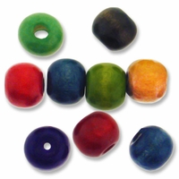 Mixed Color 10mm Wood Beads (20PK)