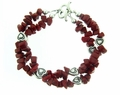 Coral and Hearts Bracelet