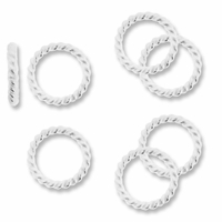 Sterling Silver Bright Twisted Round 7mm Link (1PC)