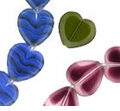 Heart Window Beads 15/15mm