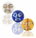 Czech Pressed Glass 9mm Moon Face Beads