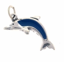 Enamel Dolphin Sterling Silver Charm