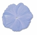 LUCITE 18MM TEXTURED FLOWER TEAL (1PC)