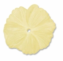 LUCITE 18MM TEXTURED FLOWER YELLOW (1PC)