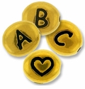 Gold Plated Pewter Letter Beads