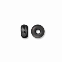 3mm Black Finish Disk Disk Heishi Spacers (10PK)
