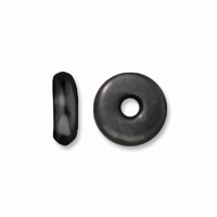 5mm Black Finish Disk Heishi Spacers (10PK)
