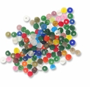 4.5mm Mixed Color Frosted Round Glass Beads (50G)