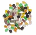 5x7mm Mixed Color Frosted Cube Beads (50G)