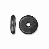 6mm Black Finish Disk Heishi Spacers (10PK)