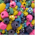 Colored Wood Bead Mix (25g)