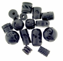 Ebony Carved Wood Bead Mix (10PK)
