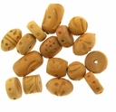 Natural Carved Wood Bead Mix (10PK)
