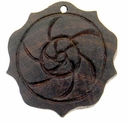 Dark Brown Flower Wood Pendant (1PC)
