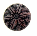 Red Mahogany Flower Wood Pendant (1PC)